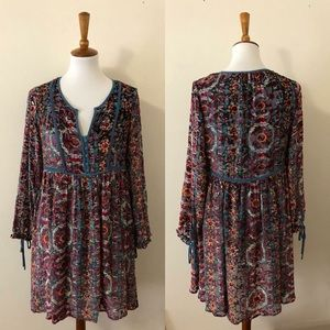 96998f1964dc Anthropologie Dresses - Abia Velvet Peasant Dress By Floreat